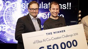 The winner of Elisa AI Co-Creation Challenge 2018