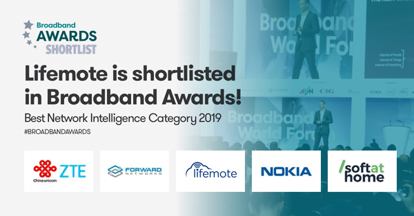 Lifemote is Shortlisted in Broadband Awards